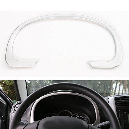 trument Dashboard Cover Trim Interior Car Styling Sticker Chrome ABS Decoration Accessories for Suzuki Jimny 2007-2015 [Matte Silver] ()