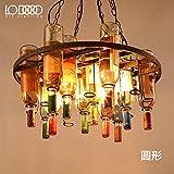 Lámpara Colgante moderno Personalidad creativa industrial retro bar botella de vidrio de color arañas de cristal de Murano, el 31*35CM, ,31*35cm parte