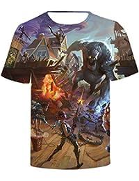 SIMYJOY Fortnite Jugador Camiseta Impresión 3D T-Shirt Impresión Digital Cool Juego Top para Hombre Mujer…