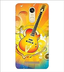 PrintDhaba Guitar D-3596 Back Case Cover for XIAOMI REDMI NOTE 3 PRO (Multi-Coloured)