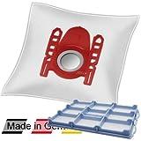 10 DeClean Staubsaugerbeutel +1 Motorschutzfilter für Bosch BSGL51332/01 Free'e compressor technology