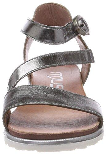 Mjus 255072-0101-6354, Sandali con Cinturino Alla Caviglia Donna Grau (Inox)