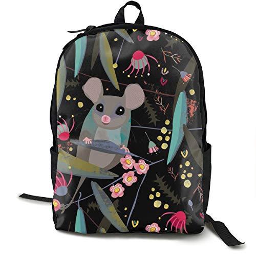 Bean Bag Mount (Eastern Pygmy Possum by Mount Vic and Me Adult Premium Travel Backpack, Water-Resistant College School Bookbag, Sport Daypack, Outdoor Rucksack, Laptop Bag for Men&Women)