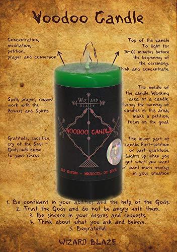 """Voodoo Kerze""""Geschenk an die Götter - Barmherzigkeit von Gott"""" V -27"""