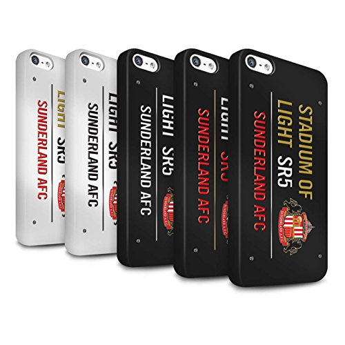 Offiziell Sunderland AFC Hülle / Matte Snap-On Case für Apple iPhone 5/5S / Pack 6pcs Muster / SAFC Stadium of Light Zeichen Kollektion Pack 6pcs