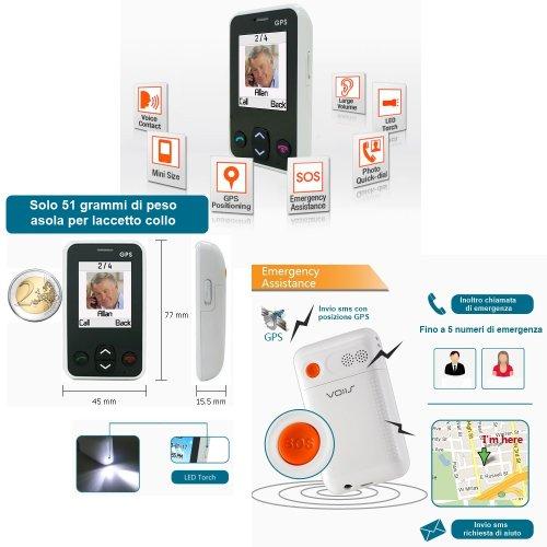 Telefono Cellulare GSM SalvaLaVita per Anziani e Bambini Telesalvalavita SOS GPS Telesoccorso Salvavita / Ascolto Remoto
