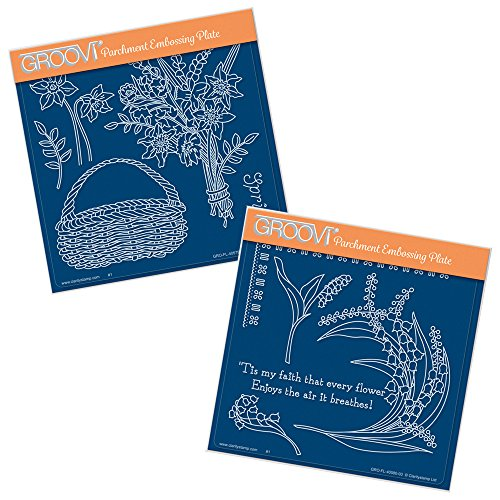 Groovi A5Squares Teller-Spring Bouquet & Lily of the Valley