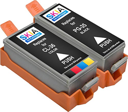 2-Stück Skia Tintenpatronen Canon CLI-36 PGI-35 PIXMA iP100 iP110 (Generische Tinten-patronen Für Canon)