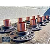 22mm Copper Cast Iron Floor/Wall Flange Pipe Mount Fits 22mm Copper Pipe - Custom Pipe Furniture Fittings