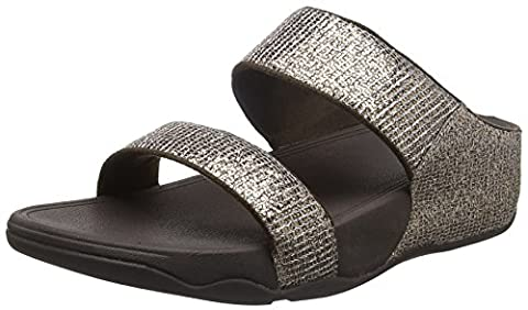 Fitflop Lulu Superglitz Slide, Sandales Bout ouvert femme - marron - Brown (Bronze), 42
