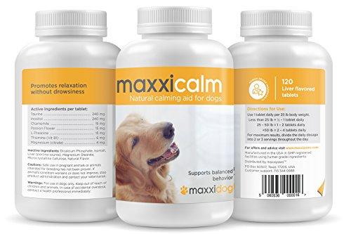 MaxxiCalm, Beruhigungshilfe für Hunde, 120 Tabletten mit Lebergeschmack - 4