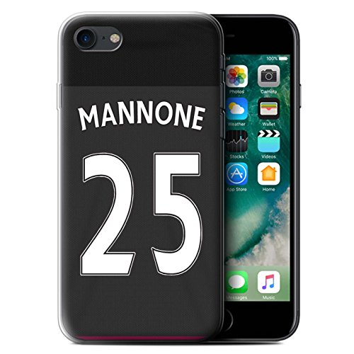 Offiziell Sunderland AFC Hülle / Gel TPU Case für Apple iPhone 7 / Brown Muster / SAFC Trikot Away 15/16 Kollektion Mannone