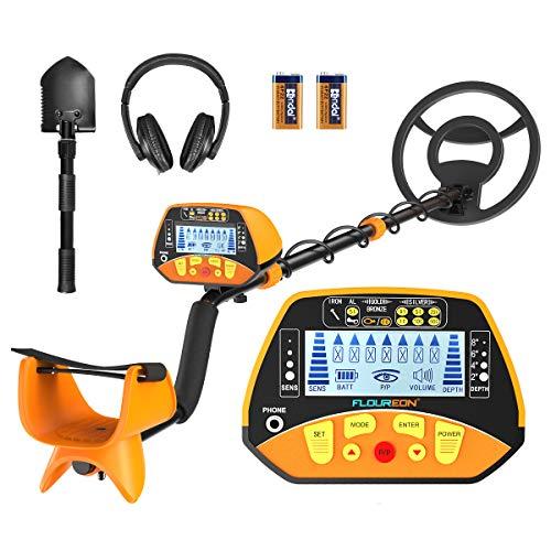 FLOUREON Detector de Metales Profesional con Función de Pinpointer para Niños y Adultos, Alta Sensibilidad...