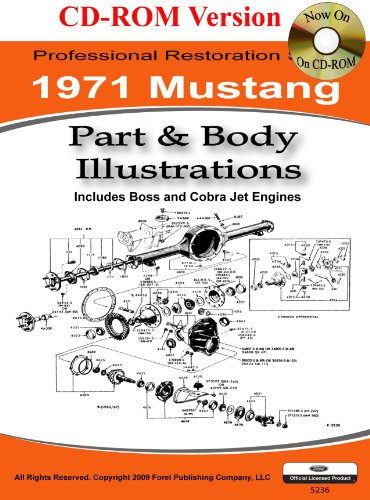 1971 Mustang Part and Body Illustrations - 1971 Mustang Ford