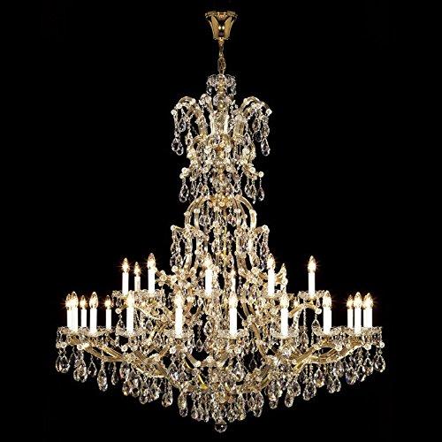 kolarz lampadario Maria Theresia 24carati oro realizzato a mano, Made in Italy, made with Swarovski