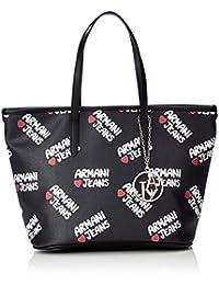 Armani Jeans 9220297P773 Damen Shopper 17x23x34 cm (B x H x T), Schwarz (NERO 00020)