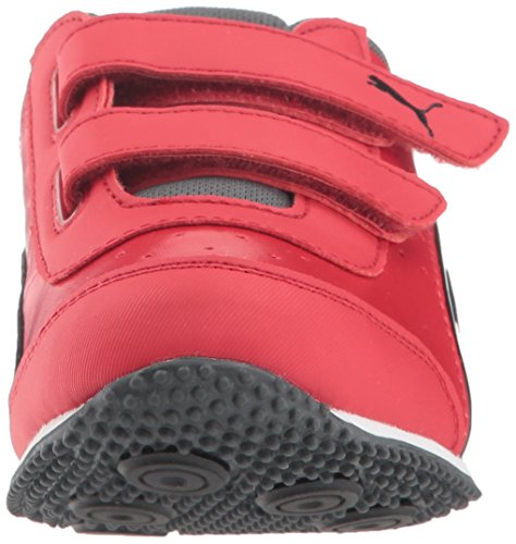 PUMA Unisex-Kids Speed Lightup Power Velcro Sneaker  Ribbon Red Black-Iron Gate  12 M US Little Kid