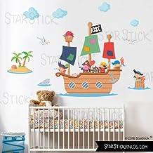 StarStick - Gran barco pirata - Vinilos infantiles