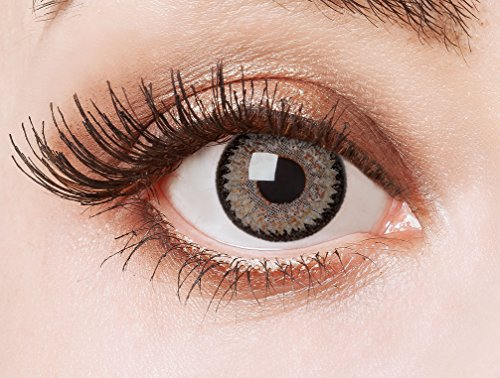 aricona Farblinsen graue Cosplay Kontaktlinsen – Natürliche Circle Lenses, farbige Jahreslinsen, Linsen für Anime & Manga Looks, für helle Augenfarben