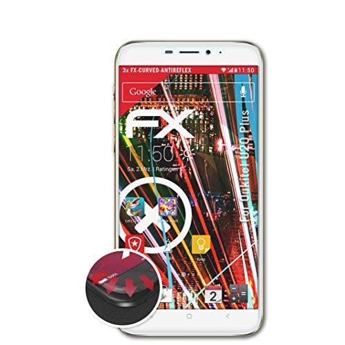 atFolix Schutzfolie passend für Oukitel U20 Plus Folie, entspiegelnde & Flexible FX Bildschirmschutzfolie (3X)