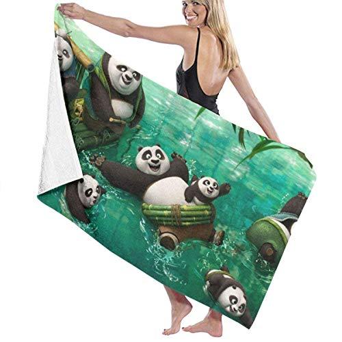 FSTGF Serviette de Plage en Coton Microfibre absorbante Serviette de Bain à séchage Rapide Kung Fu Panda