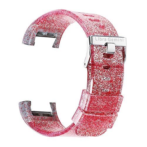 Transparentes Silikon-Glitzer-Armband für Iwatch Smart Watch Sports Soft-Silikon-Ersatz mit Fitbit Charging Fashion Armband für Herren und Damen Wuqy