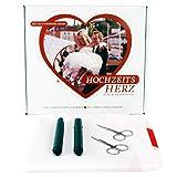 Hochzeitsherz Herz zum Ausschneiden Laken 2 x 1,80 m Hochzeitsbrauch Komplettset