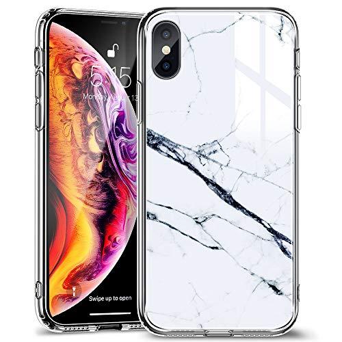 ESR Funda para iPhone XS MAX Cristal Templado [Imita la...