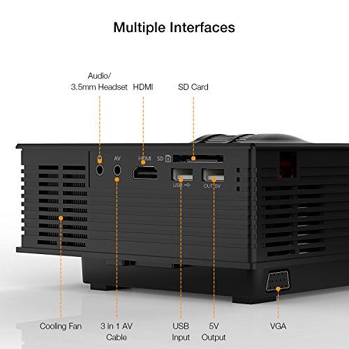 APEMAN Mini LCD Beamer mit 1200 Lumen Unterstützt Videospiele 1080P HD - 8