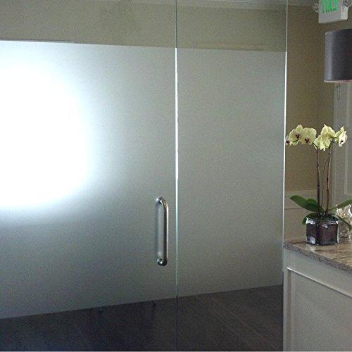 Decooo Sichtschutzfolie für Fenster und Glasscheiben, matt, Rolle 98cm breit, mit Cuttermesser, 98 cm x 50 m