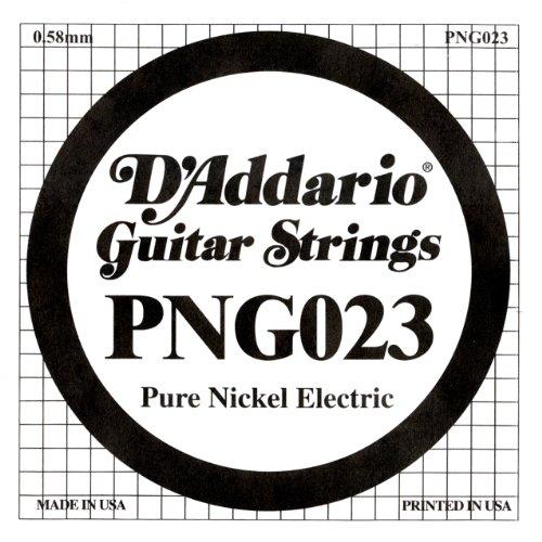 D'Addario PNG023 Einzelsaite für E-Gitarre, reines Nickel, .023