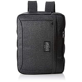 Armani Exchange Men's Briefcase Backpack Dark Grey/Black), 31x12x41 centimeters (B x H x T)