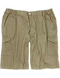 Greyes Cargo Shorts in Khaki in Übergrößen bis 8XL