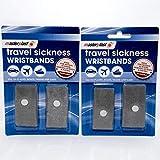 2x Anti-Übelkeit-Armbänder, fürs Handgelenk,Ideal für Urlaub und Reisen– 2Stück (4insgesamt)