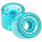 Ultrasport Skateboard-Rollen, aus weicherem Material für Perfekte Haftung Auch auf Schlechter Oberfläche, 2er-Set in Transparent-Blau