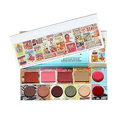11 couleurs de maquillage professionnel ombres à paupières fard à joues Plate Lip Gloss Combo pour Daily Make Up utilisation