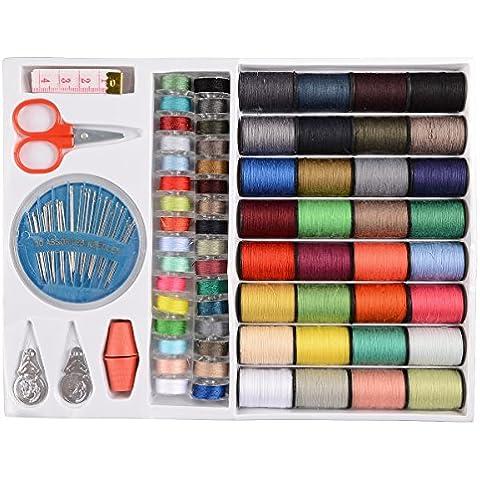 CLE DE TOUS - Kit de costura - 64 Hilos de colores + 6 piezas Set para costura