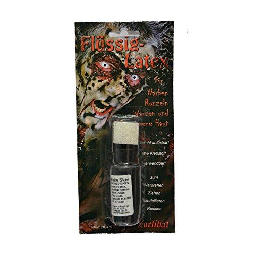 Zoelibat - Flüssig- Latex für Narben Runzeln Warzen zum Selbermachen - Latexhaut Make-Up - 28,3 ml...