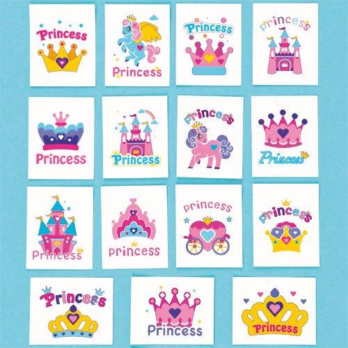 Calcomanas-de-Princesa-Tatuajes-Infantiles-Perfectos-como-Relleno-de-Piata-Premios-y-Regalos-de-Fiestas-de-Nios-Pack-de-36