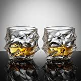 Ecooe 320ml Whisky Tumblers for Scotch, Bourbon, Whiskey, and More - set of 2