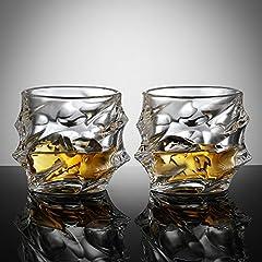 Idea Regalo - Ecooe 320ml bicchieri tumbler per whisky, scotch, bourbon, e altro ancora. Set di 2