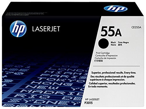 HP 55A Original LaserJet Toner Cartridge (CE255A), Black at amazon