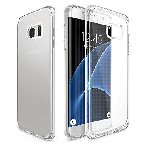 Produktbild Galaxy S7 Edge Hülle, Ubegood Transparent TPU Schutzhülle für Samsung Galaxy S7 edge Kratzfeste Case Weiche Silikon Hülle Bumper Case Kristall Tasche Klar Hülle Durchsichtig Handyhülle für S7 edge
