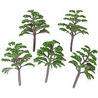 VORCOOL - 20 árboles de paisaje de tren modelo 1:150-200 (verde)
