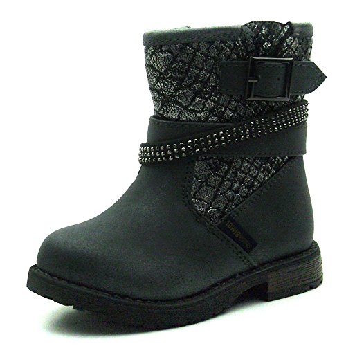 SB172 Studio BIMBI Girls Mid Calf Baby Boots w/zip in Pewter Taglia 26