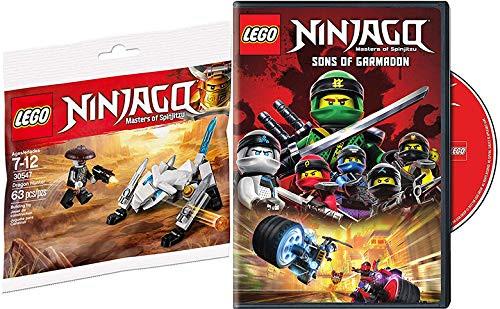 LEGO Masters Battle Ninjago Animated Series Sons of Garamadon DVD Pack + Mini Figure Spinjitzu Build Dragon Hunter