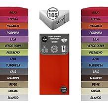 ADP Home - Bajera ajustable (para cama de 105 cm), rojo