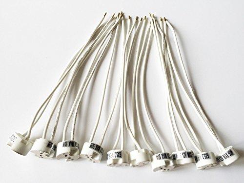 12 Volt, Mr11-g4 Sockel (10 Stück universal Fassung Sockel für 12V Lampen G4, MR16, GU5,3 MR11, GU4 mit Kabel)