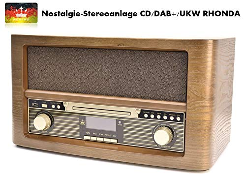 NEWTRO Nostalgie-Stereoanlage CD/DAB+/UKW Rhonda