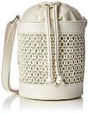 New Look Damen Wales Weave Umhängetasche, Weiß (White), 8x16.5x18 Centimeters